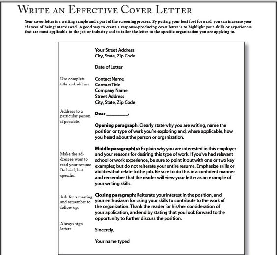 succesful cover letters - successful cover letter samples