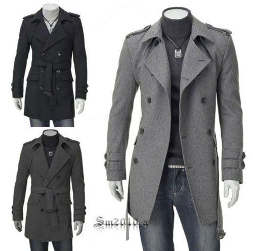 Mens Jackets Coats Fashion Casual Designer Fitted Long Winter