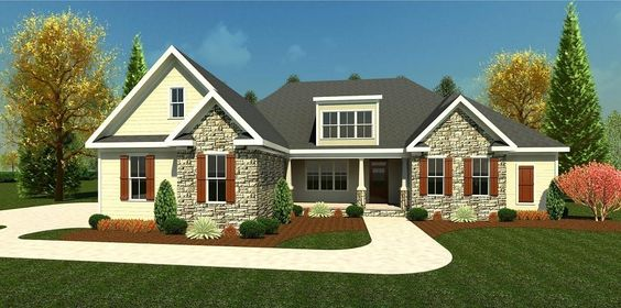 Sprawling ranch floor plan the River Hill by Ivey Homes Browse