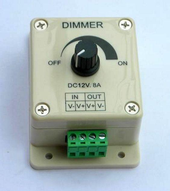 LED Dimmer 12 Volt / 8 Amp. manuell einstellbar ( Drehknopf ) Zum dimmen ihrer 12 Volt LEDs zum Beispiel in der Aquarium-Beleuchtung !
