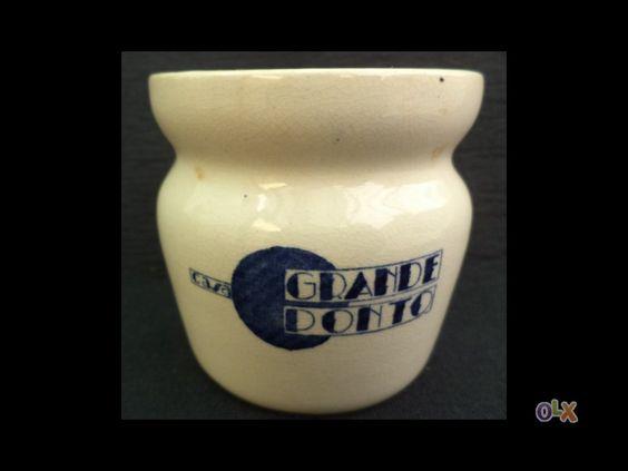 Boião yogurt casa grande ponto fabrica de sacavem- carimbo gilman em porcelana, mais tarde foram su