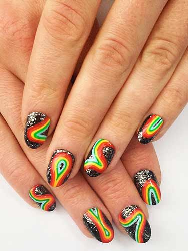 The Illustrated Nail - How to do Intergalactic Rainbow nails