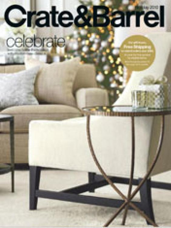 34 Home Decor Catalogs You Can Get for Free by Mail: Crate & Barrel Home Decor Catalog