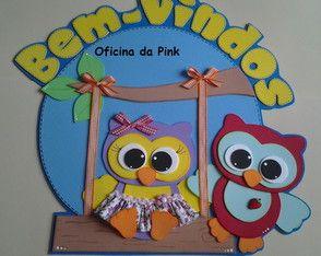 Placa De Porta Corujinhas