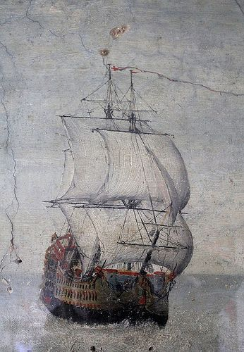 17th century wall painting at The Jolly Sailor, Orford 1 | by Adnams