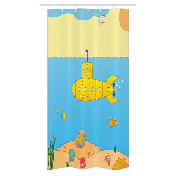 Home Curtains Yellow Submarine Bathroom Sets