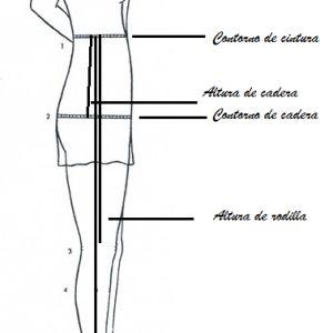 Medidas para trazar el patrón del pantalón