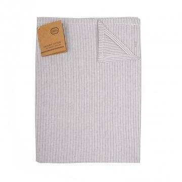 Geschirrtuch, Bio – Baumwolle, graue Streifen, 50 x 70 cm