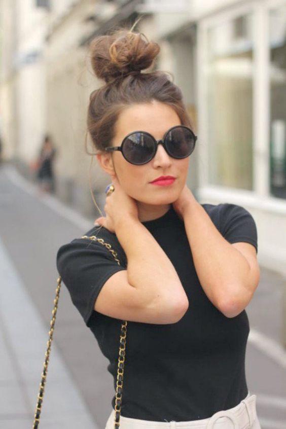 Hermosos peinados desordenado alto moño para probar #bollo #bun #peinado #hairstyle #sucio #messy #pelo #hair #alto #high #peinados #hairstyles #bailarina #ballerina #mujer #women #perfecto #perfect #suelto #loose #pulcro #sleek #bollos #buns #sencillo #simple #hermoso #beautiful #hacer #make