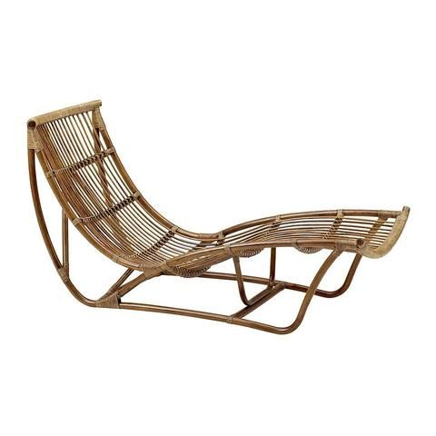 Vintage Rattan And Bamboo Chaise Lounge Le Barn Antiques