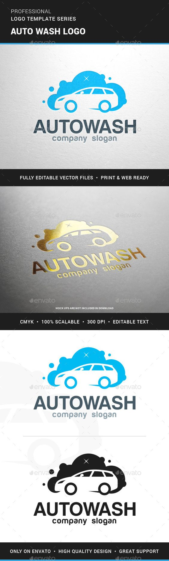 Auto Wash Logo Template