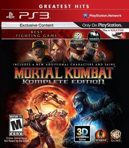 Mortal Kombat Komplete PS3 $13.23 on BIGWORDS **price subject to change based on lower price item availability. Follow link for lowest price.