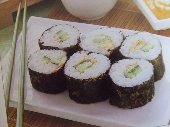 El sushi vegetariano de María