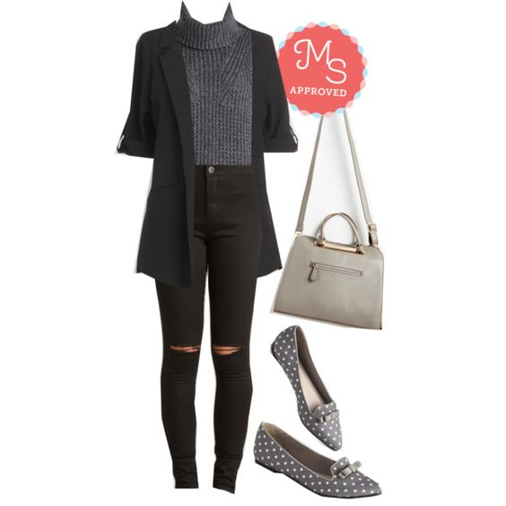 In this outfit: Engineer and Dear Top, Volunteer Coordinator Blazer in Black, Sojourn to Soho Pants, Rite of Passion Bag, Crushin' Around Loafer #minimalist #simple #neutral #chic #nyfw #ootd #outfits #streetstyle #urban #workwear #style #ModCloth #ModStylist #fashion