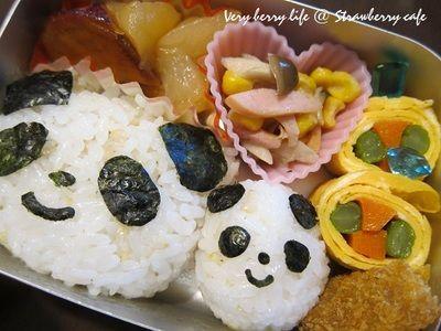 親子パンダ弁当。 by 苺ママさん | レシピブログ - 料理ブログのレシピ満載!