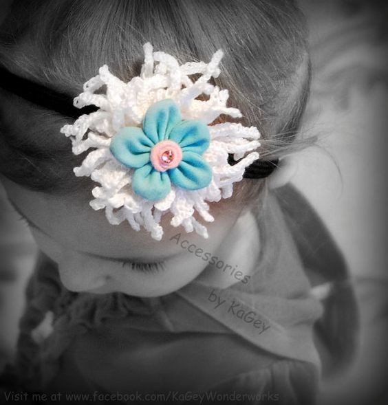 Flower headbend.Spring Flower Hair by KaGeyWonderworks on Etsy, $13.00