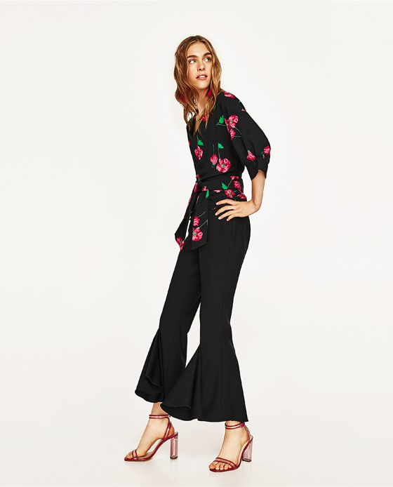 ZARA - WOMAN - FLORAL PRINT CROSSOVER SHIRT