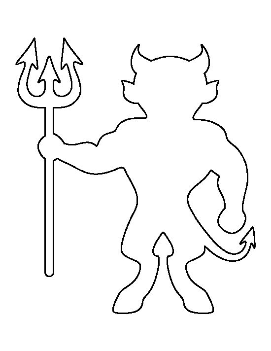 red devil coloring pages - photo#22