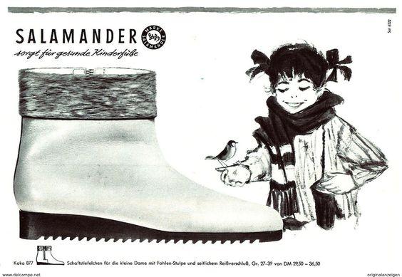 Original-Werbung/ Anzeige 1962 - SALAMANDER SCHUHE - Ca. 200 X 130 Mm - Werbung