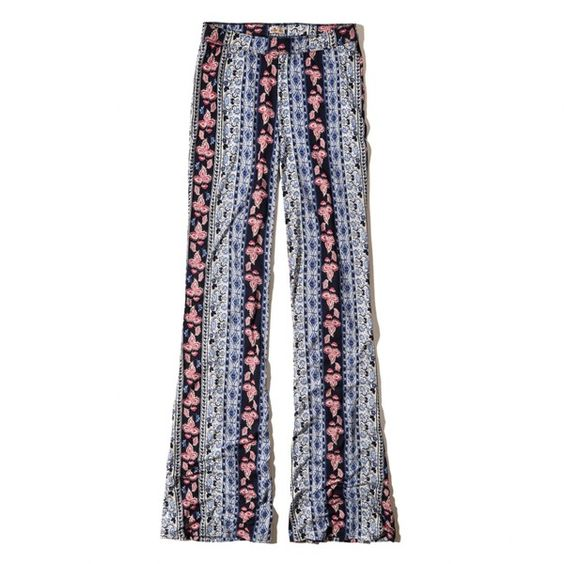Pattern Drapey Flare Pants Girls Bottoms ($40) ❤ liked on Polyvore