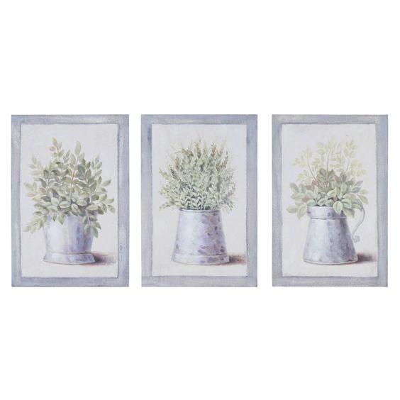 3 cuadros de madera 20 x 31 cm GARDENNING | Maisons du Monde
