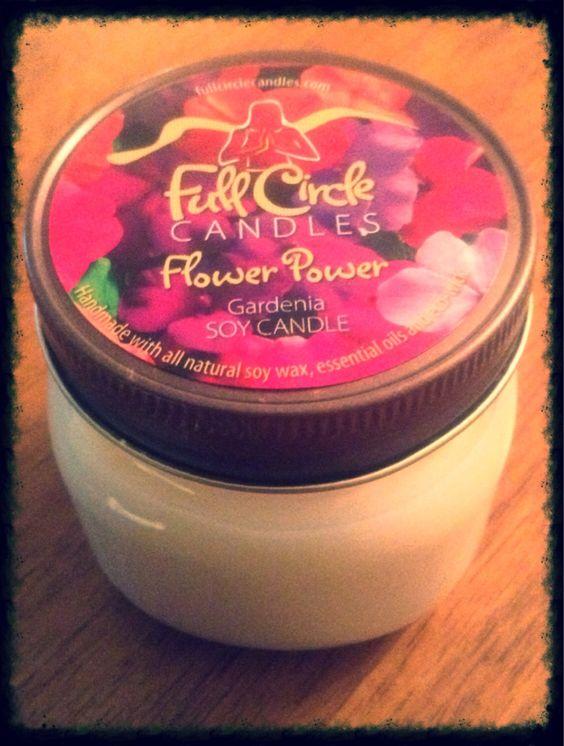 Gardenia Soy Candle - 8oz Tin - Natural Wick