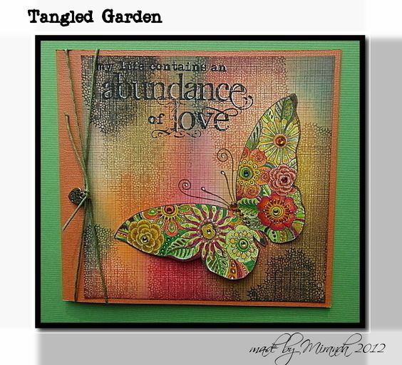 'Mir'acle art Inspirations: Tangled Garden, one of the new Chocolate Baroque stamps