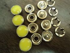 "PEARL SNAP-HOT YELLOW/GREEN-1 DZ-SIZE 18(7/16"" DIAMETER)-U.S. MADE-PRONG BACKS"