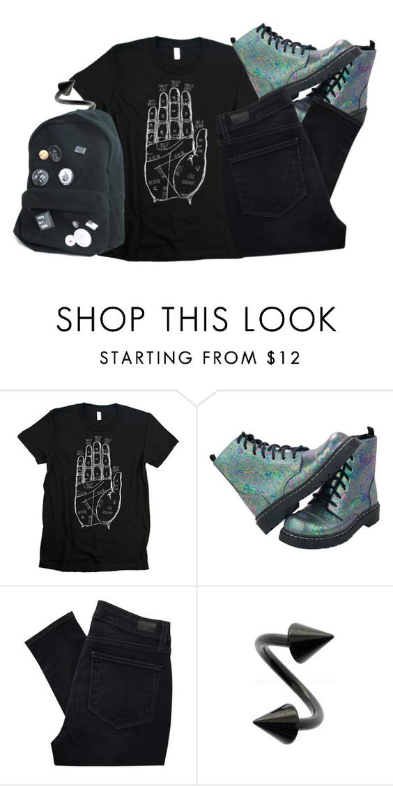 """""""It's kill or be killed"""" by corruptedcolours ❤ liked on Polyvore featuring T.U.K. and Paige Denim"""