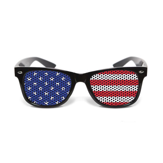 Just in time for the Olympics, they are also available in red, white + blue. U.S. Glasses by Laetitia Paris