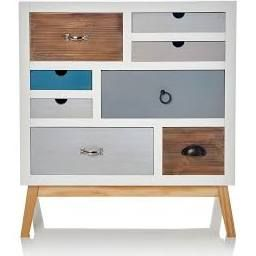 kommode retro look wei bunt schubladen pinterest suche und retro. Black Bedroom Furniture Sets. Home Design Ideas