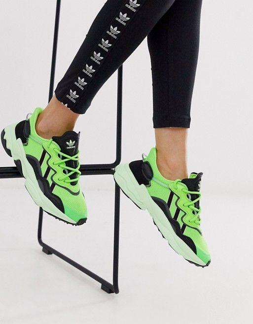 adidas Originals Ozweego trainers in solar green | ASOS