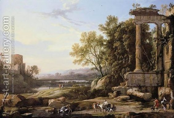 Italianate Landscape 1656 by Pierre Patel