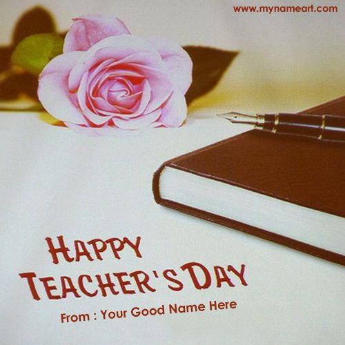 Teachers Day Wishes To Teacher With My Name Picture Create Online Free Create Teachers Day Ca Happy Teachers Day Wishes Happy Teachers Day Teachers Day Wishes