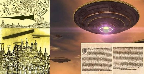 UFO-slag bij Neurenberg, Duitsland in 1561: Massale UFO-waarneming in de oudheid