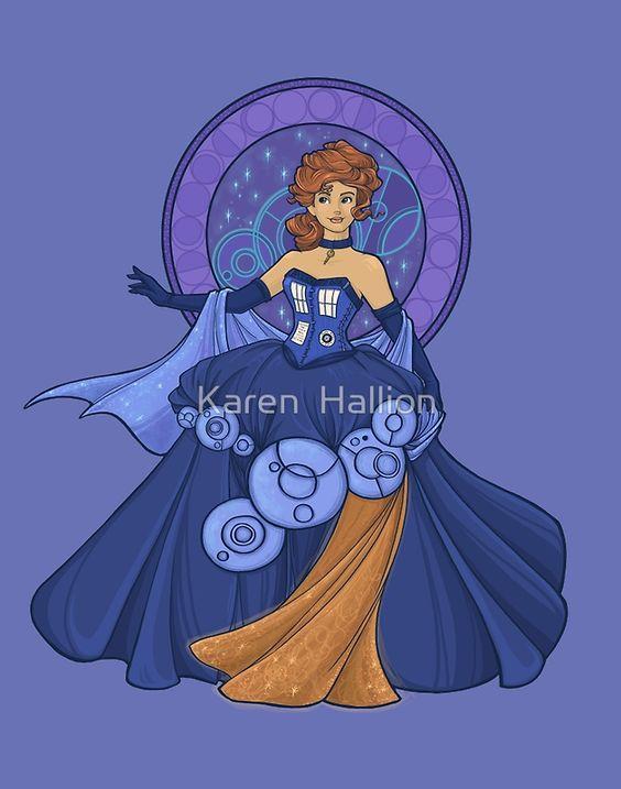 Gallifreyan Girl by Karen  Hallion