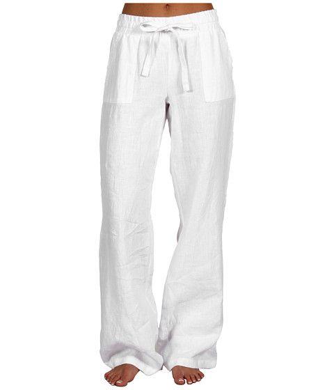 P.J. Salvage White Impressions Linen Lounge Pant
