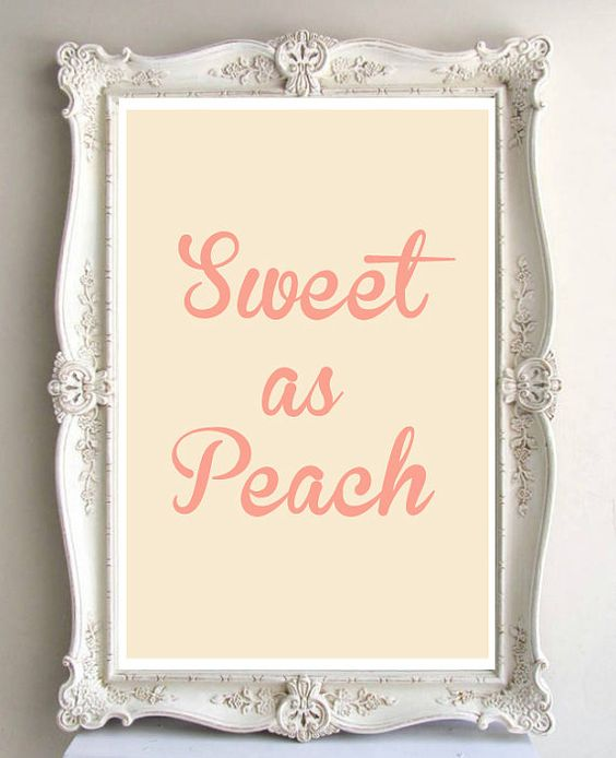 Sweet as Peach - Southern Charm - 11 x 14 in. or 12 x 18 in. Typography Art Print - Home Decor - on Etsy, $26.00
