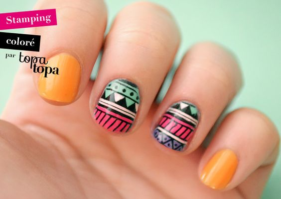 Amazin' Nailista: Stamping coloré