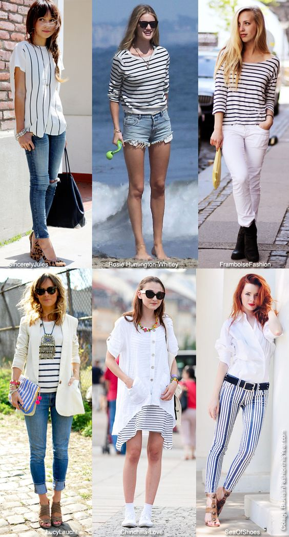 Blue is in Fashion this Year: How To Wear: A Simple Stripe
