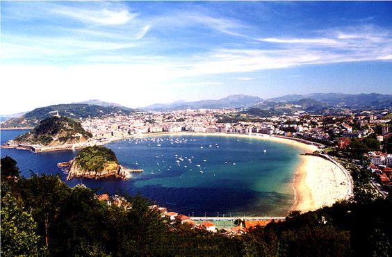 Playa de La Concha, San Sebastián, España