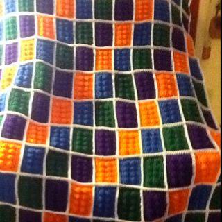 Lego blanket :) found the pattern at http://allthingsbrightandbeautifulcrafts.blogspot.com/2012/01/crochet-lego-blanket-tutorial.html