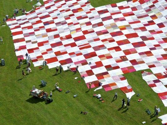 World's Largest Handmade Picnic Blanket Unfurled in Switzerland! | Inhabitat - Sustainable Design Innovation, Eco Architecture, Green Building