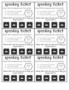 letter to da for speeding ticket