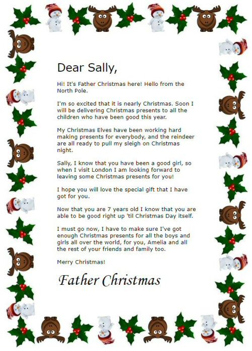 Make Your Own Free Personalised Printable Letter From Father Christmas For Your Chil Father Christmas Letters Christmas Lettering Free Printable Santa Letters
