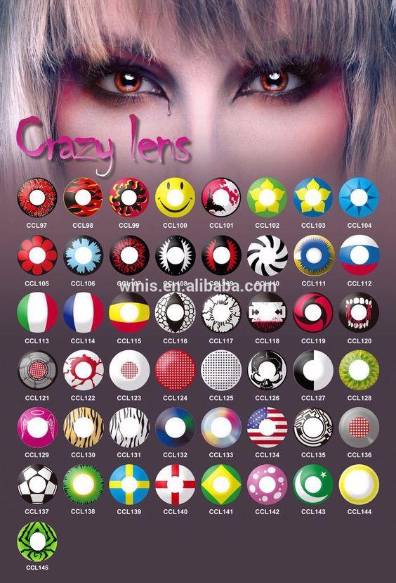 Hot 146 Designs 1 Year Korean Naruto Cosplay Sharingan Contact Lens Wholesale…