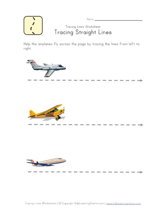 Airplane pre-writing worksheet | Letter A | Pinterest | Straight ...