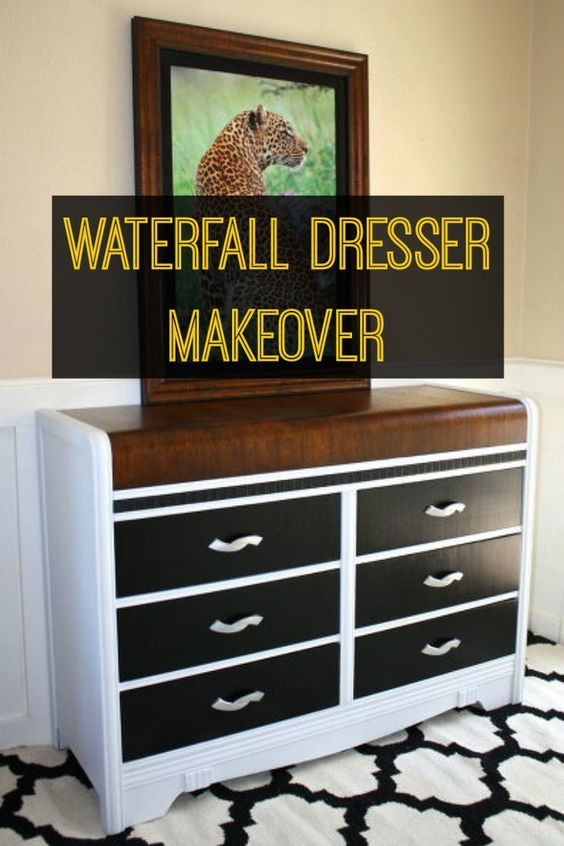 Tool Chest Dresser Makeover: Waterfall Dresser, Dresser Makeovers And Chest Of Drawers
