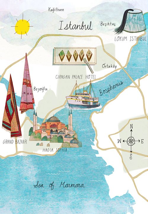 Josie Portillo - Istanbul map