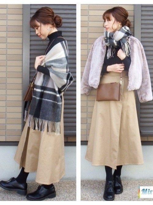 コーデ ベージュ ロングスカート Google 検索 ロングスカート ファッションコーディネート ニットセーター